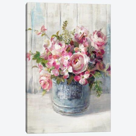 Garden Blooms I Canvas Print #WAC5145} by Danhui Nai Canvas Art