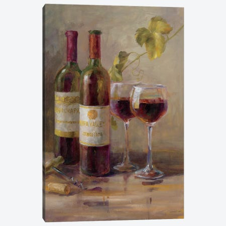 Opening The Wine I Canvas Print #WAC5158} by Danhui Nai Canvas Art