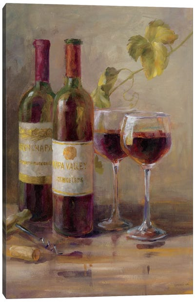 Opening The Wine I Canvas Print #WAC5158