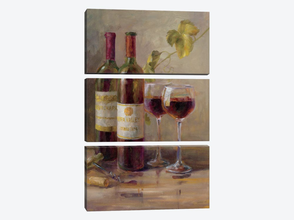 Opening The Wine I by Danhui Nai 3-piece Canvas Artwork