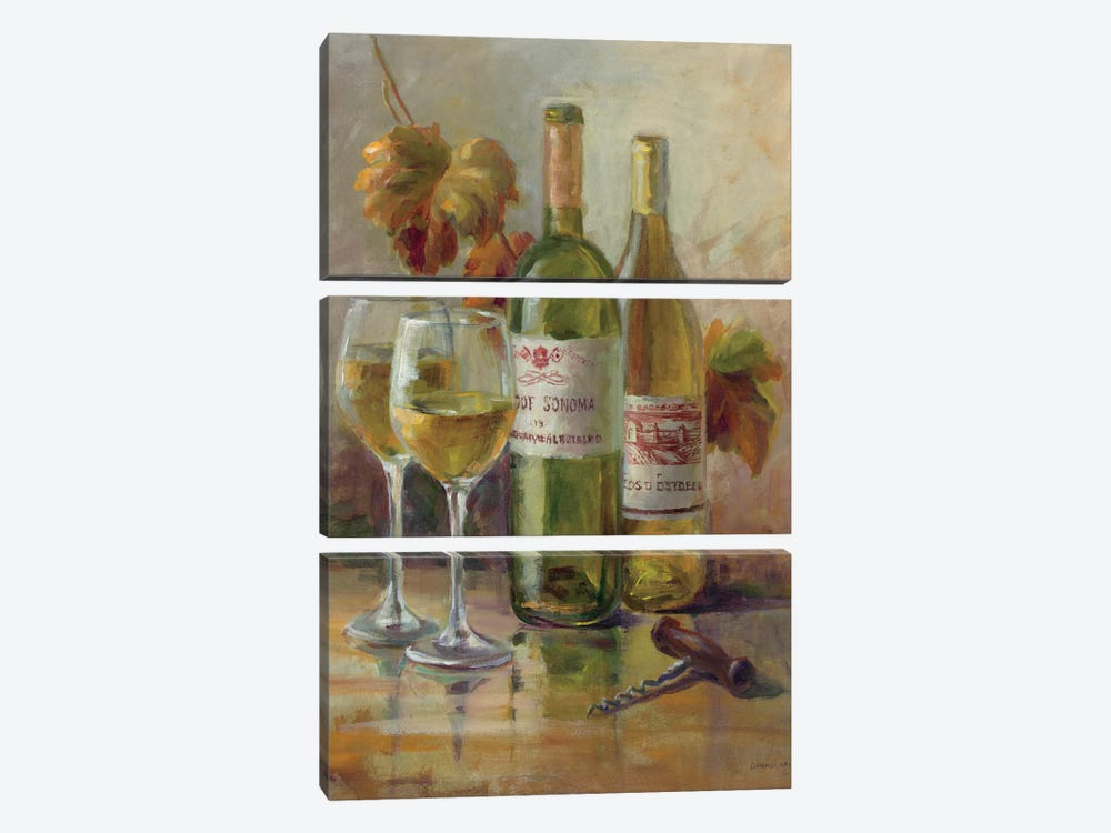 Opening The Wine II by Danhui Nai 3-piece Canvas Print
