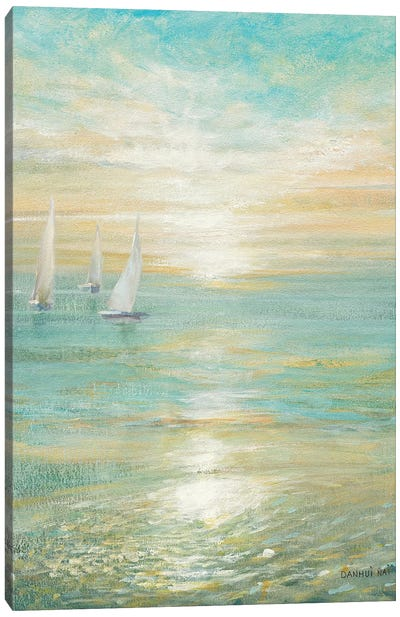 Sunrise Sailboats I Canvas Art Print