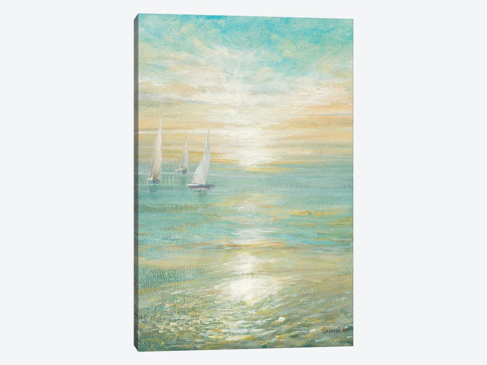 Sunrise Sailboats I 1-piece Canvas Artwork