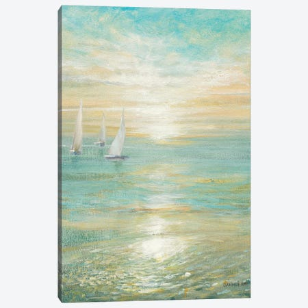 Sunrise Sailboats I Canvas Print #WAC5165} by Danhui Nai Canvas Artwork