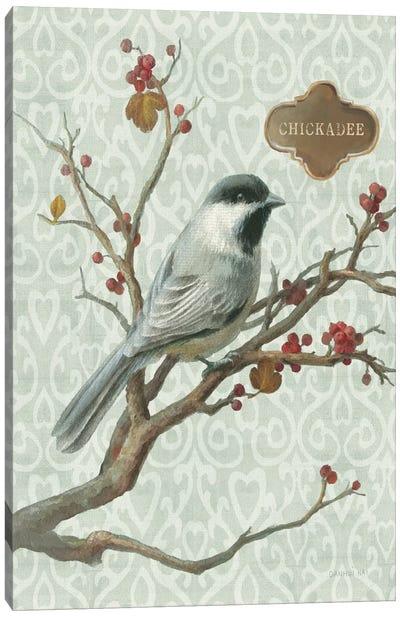 Winter Bird Series: Chickadee Canvas Print #WAC5168