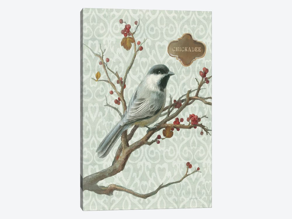 Winter Bird Series: Chickadee by Danhui Nai 1-piece Canvas Art Print