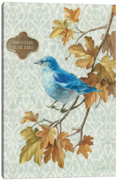 Winter Bird Series: Mountain Blue Bird Canvas Print #WAC5169