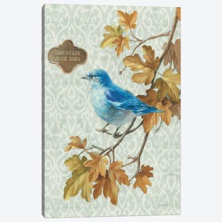 Mountain Blue Bird Canvas Print #WAC5169} by Danhui Nai Canvas Print