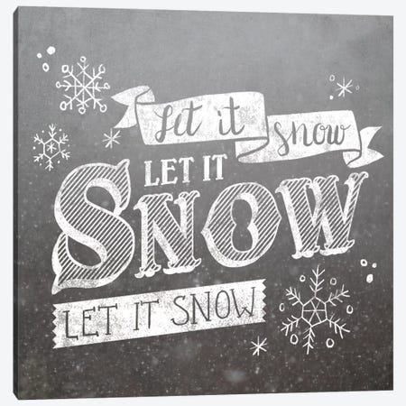 Let It Snow Canvas Print #WAC5175} by Laura Marshall Art Print