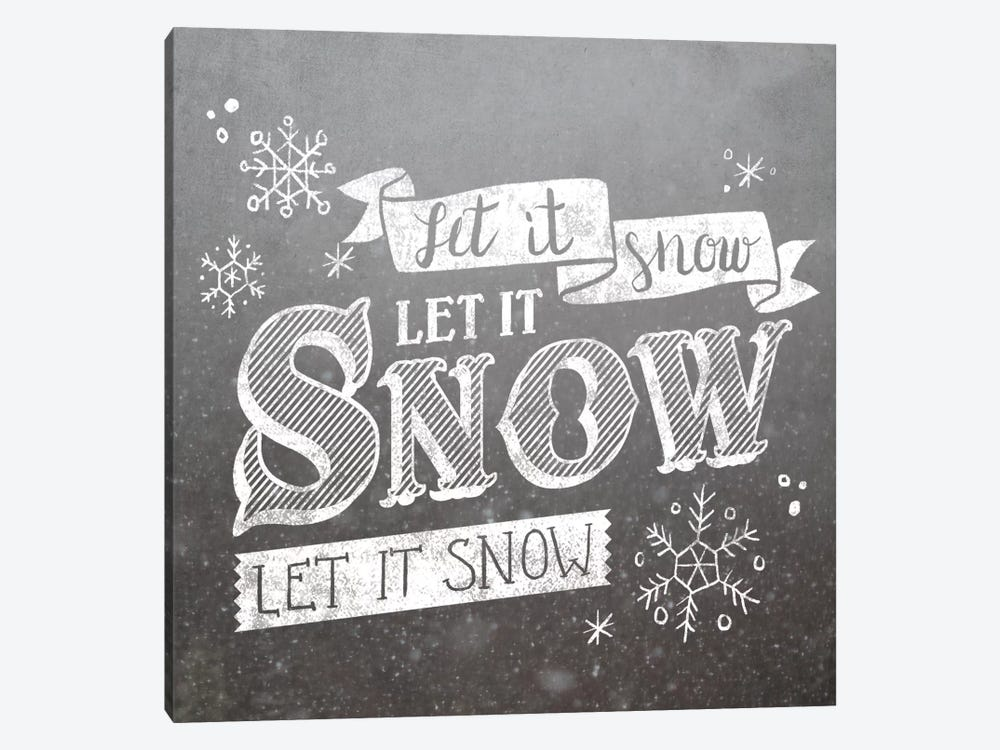 Let It Snow by Laura Marshall 1-piece Canvas Art Print