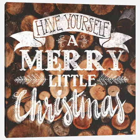 Merry Little Christmas Canvas Print #WAC5176} by Laura Marshall Canvas Art Print