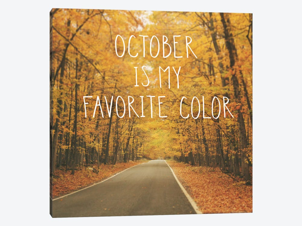 October Color II 1-piece Canvas Art