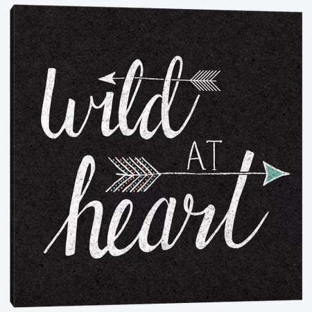 Wild At Heart On Black Canvas Print #WAC5182} by Laura Marshall Canvas Art Print