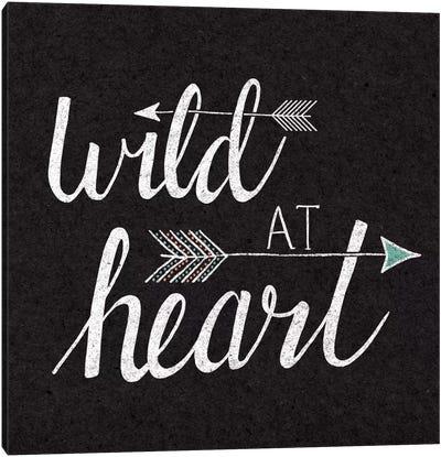 Wild At Heart On Black Canvas Print #WAC5182