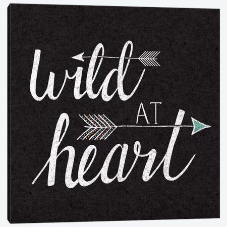 Wild At Heart On Black Canvas Print #WAC5182} by Laura Marshall Canvas Art Print