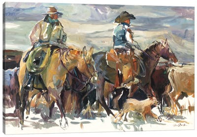 The Roundup by Marilyn Hageman Canvas Art Print