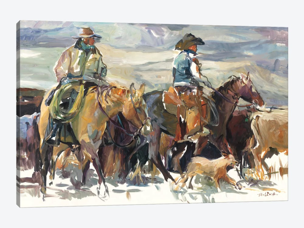 The Roundup by Marilyn Hageman 1-piece Canvas Art Print