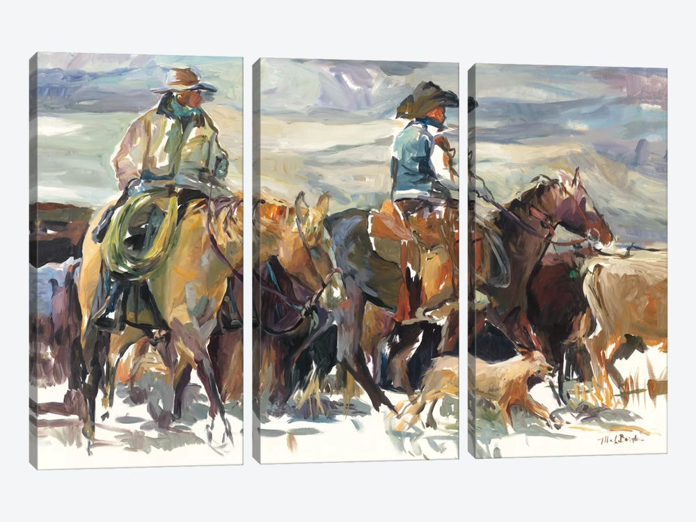 The Roundup by Marilyn Hageman 3-piece Art Print
