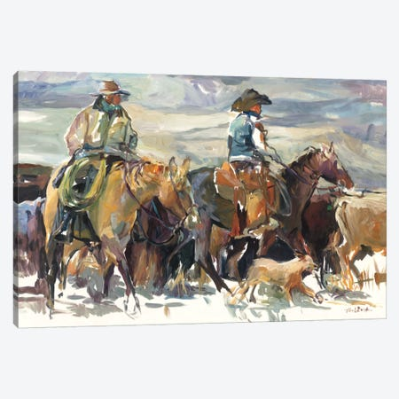 The Roundup Canvas Print #WAC5188} by Marilyn Hageman Canvas Art Print
