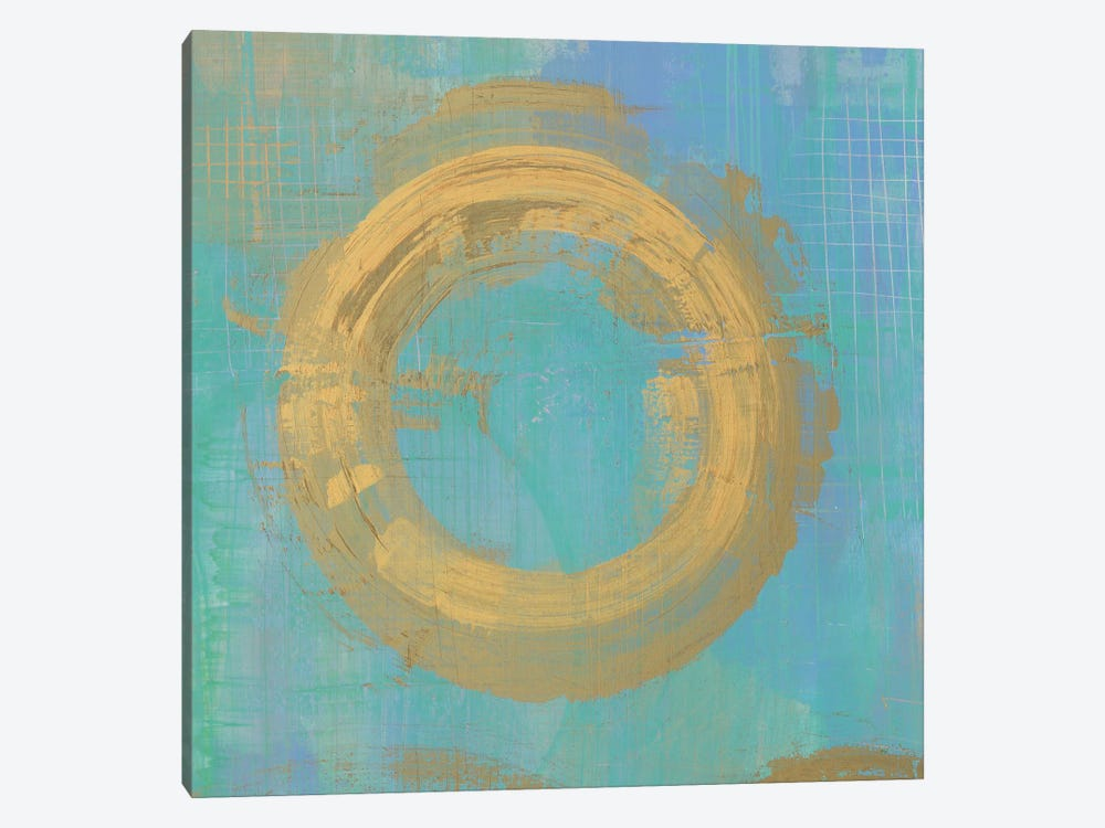 Golden Circles II by Melissa Averinos 1-piece Canvas Artwork