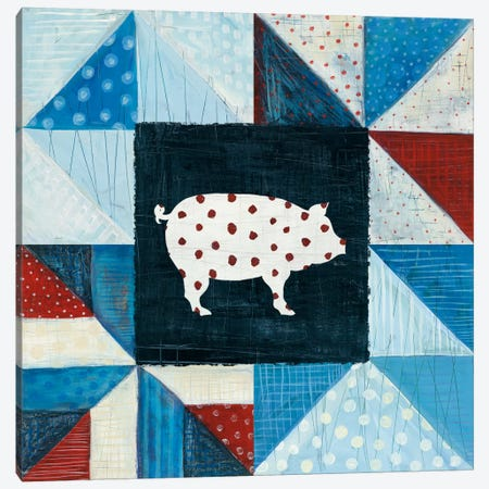 Modern Americana Farm Quilt V Canvas Print #WAC5191} by Melissa Averinos Canvas Artwork
