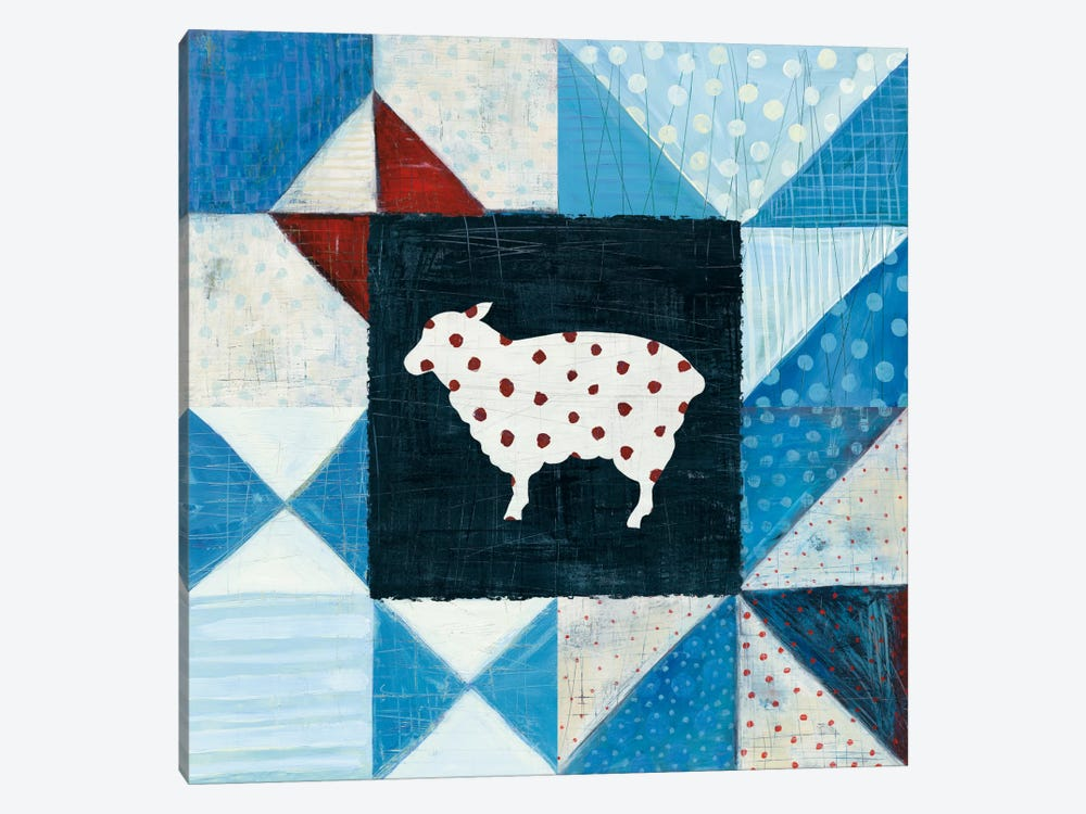 Modern Americana Farm Quilt VI 1-piece Canvas Art