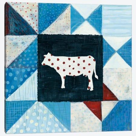 Modern Americana Farm Quilt VIII 3-Piece Canvas #WAC5194} by Melissa Averinos Canvas Art Print