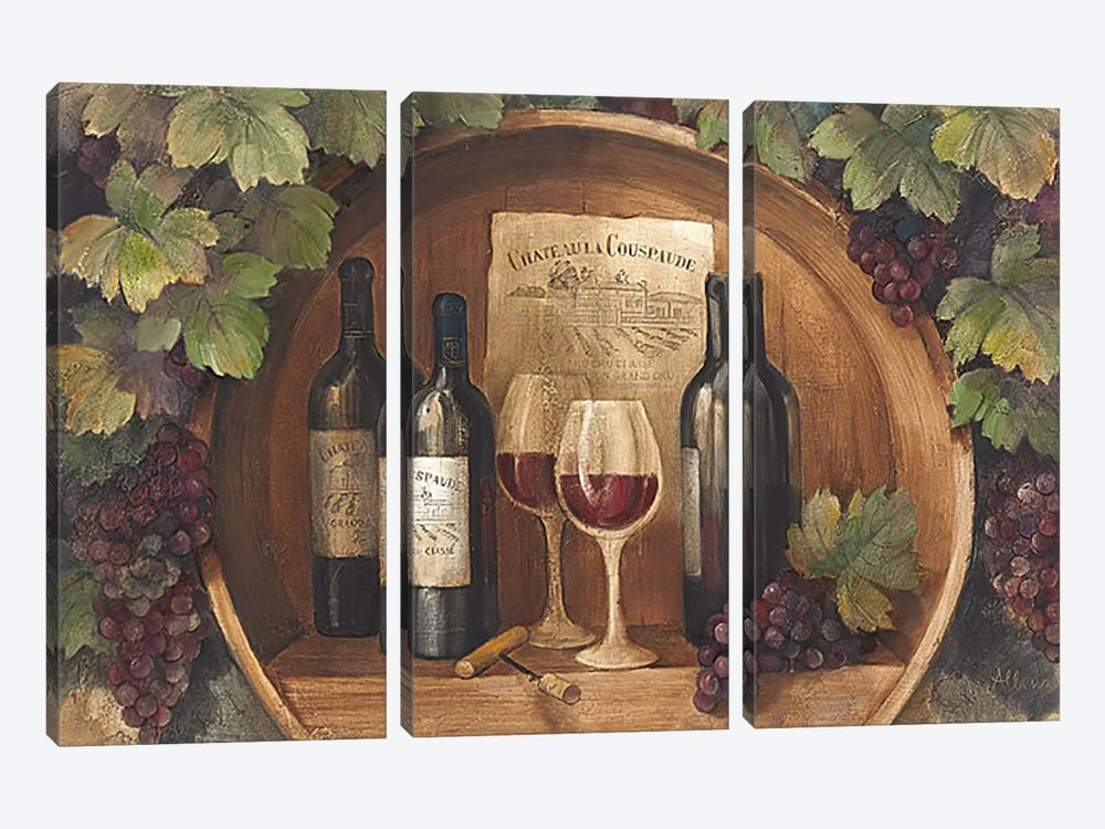 At the Winery by Albena Hristova 3-piece Canvas Wall Art