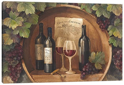 At the Winery Canvas Art Print