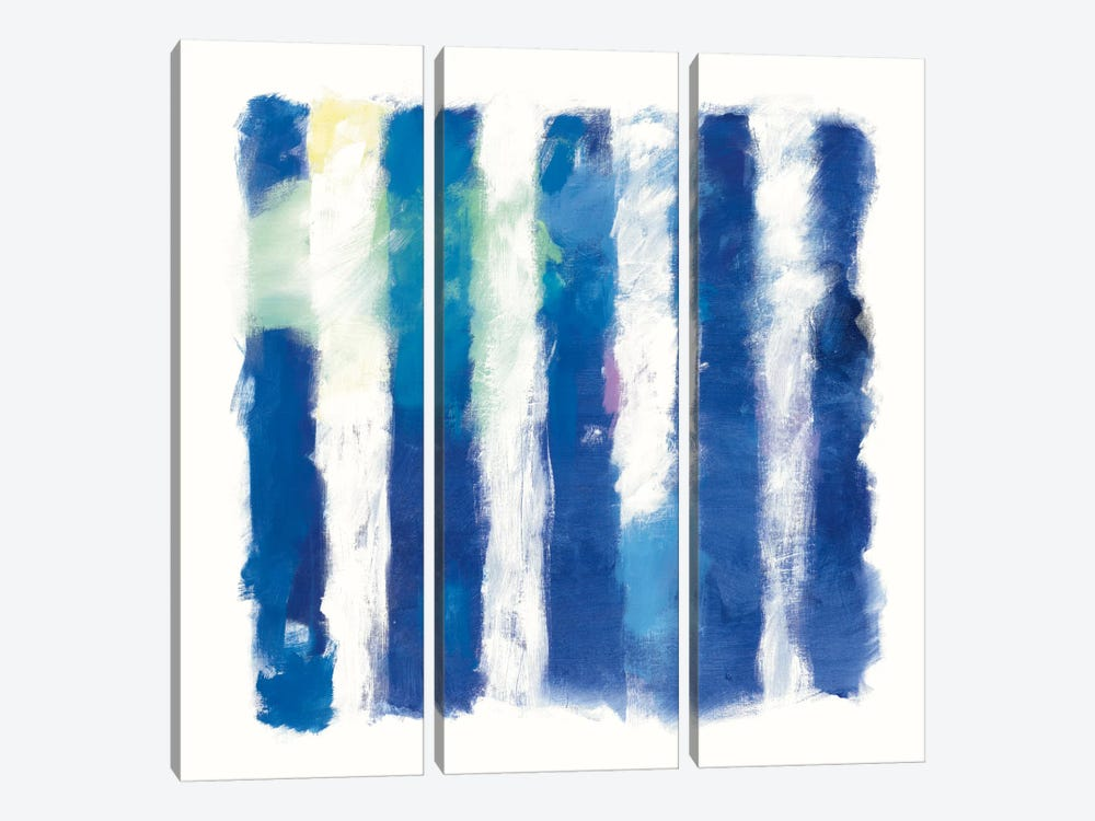 Rhythm And Hue On White by Mike Schick 3-piece Art Print