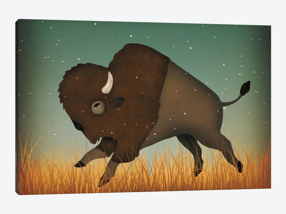 American Bison (Buffalo) 1-piece Canvas Artwork