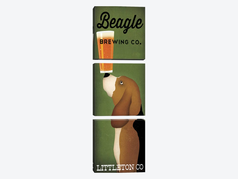 Beagle Brewing Co. by Ryan Fowler 3-piece Canvas Art Print