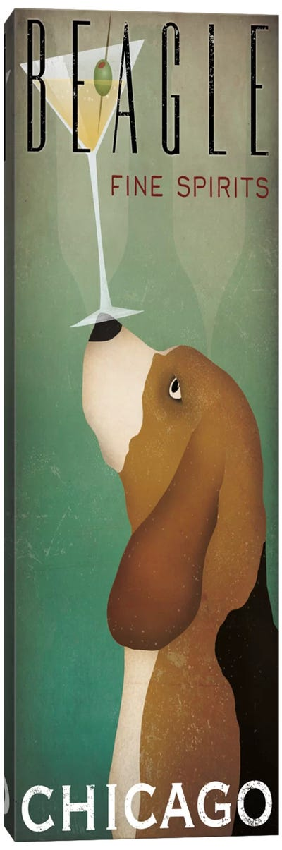 Beagle Fine Spirits Canvas Art Print