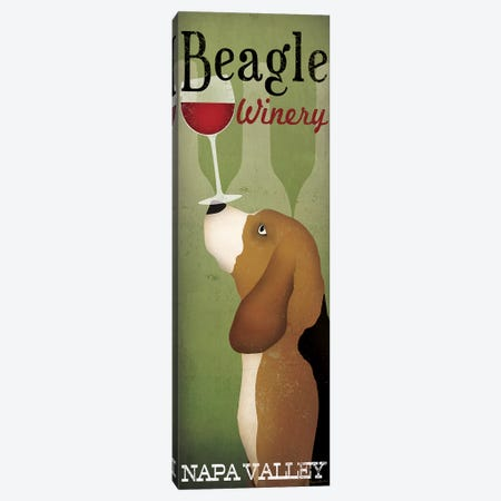 Beagle Winery Canvas Print #WAC5213} by Ryan Fowler Art Print