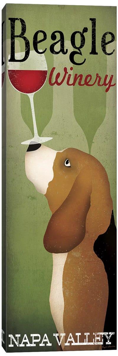 Beagle Winery Canvas Art Print