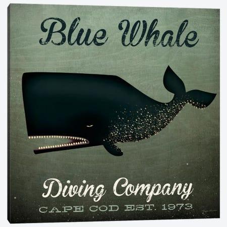 Blue Whale Diving Co. Canvas Print #WAC5214} by Ryan Fowler Canvas Artwork