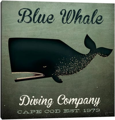 Blue Whale Diving Co. Canvas Art Print