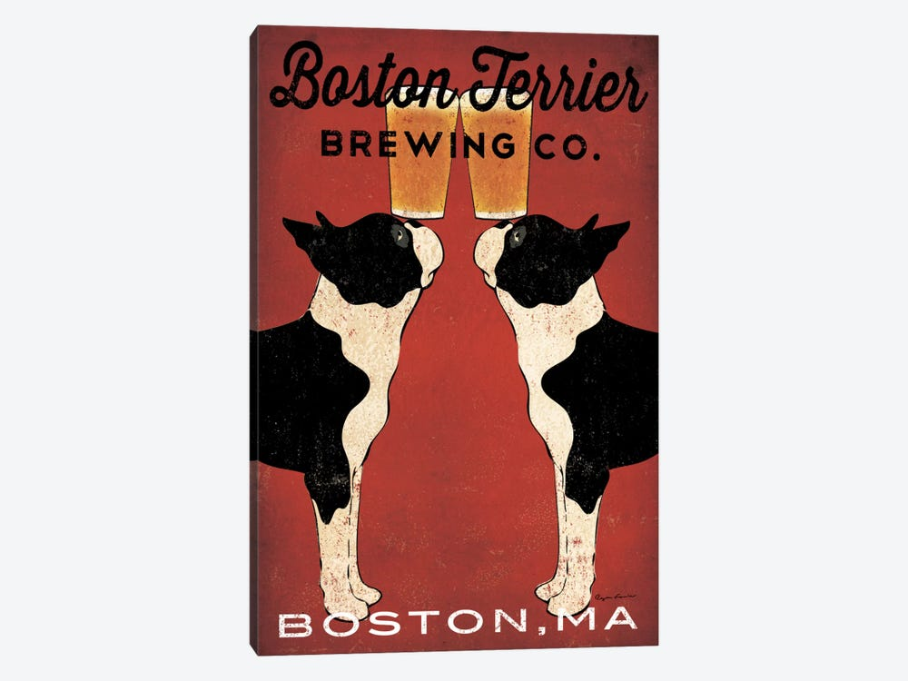 Boston Terrier Brewing Co. (Boston, MA) by Ryan Fowler 1-piece Canvas Art Print
