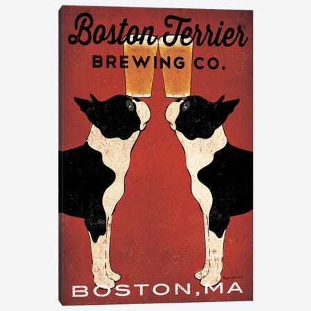 Boston Terrier Brewing Co. (Boston, MA) Canvas Print #WAC5215} by Ryan Fowler Canvas Art