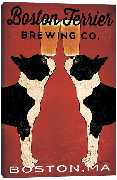 Boston Terrier Brewing Co. (Boston, MA) Canvas Art Print