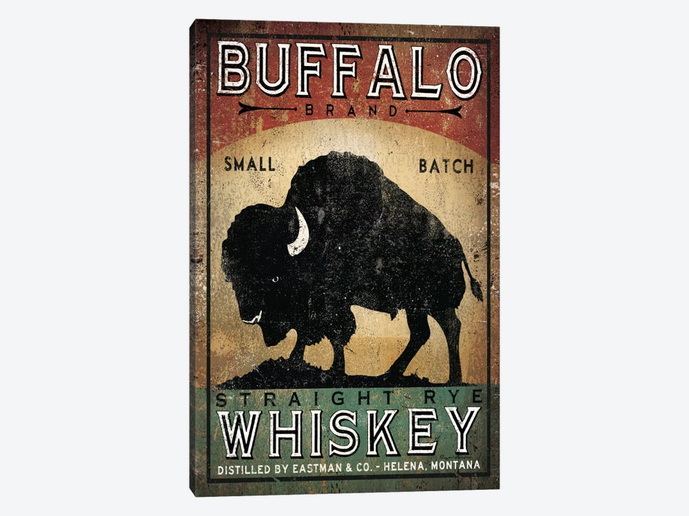 Buffalo Brand Small Batch Straight Rye Whiskey by Ryan Fowler 1-piece Canvas Artwork