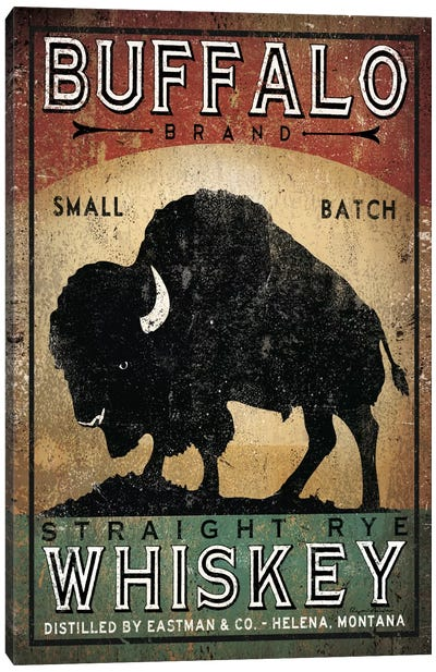 Buffalo Brand Small Batch Straight Rye Whiskey Canvas Art Print