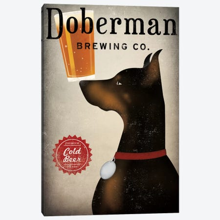 Doberman Brewing Co. Canvas Print #WAC5217} by Ryan Fowler Canvas Artwork