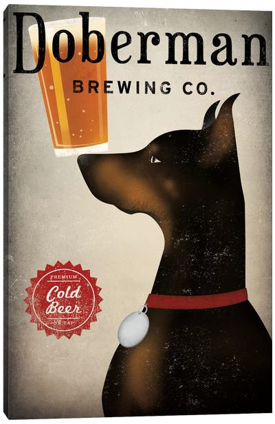 Doberman Brewing Co. Canvas Print #WAC5217