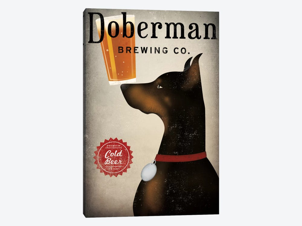 Doberman Brewing Co. by Ryan Fowler 1-piece Canvas Art Print