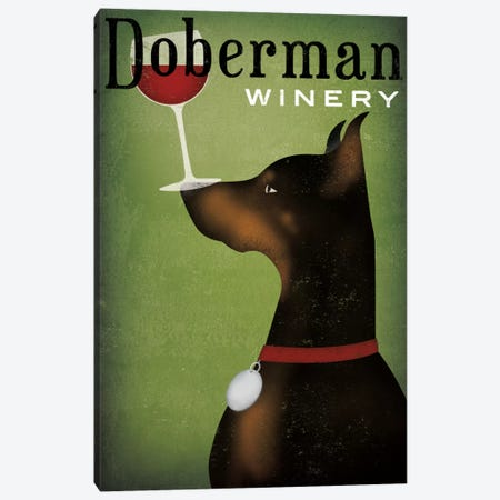 Doberman Winery Canvas Print #WAC5218} by Ryan Fowler Canvas Art Print