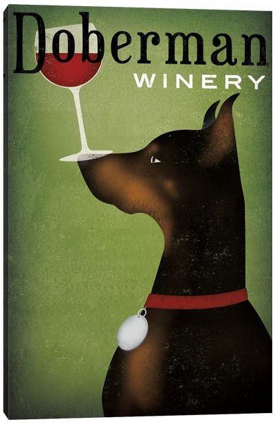 Doberman Winery Canvas Art Print