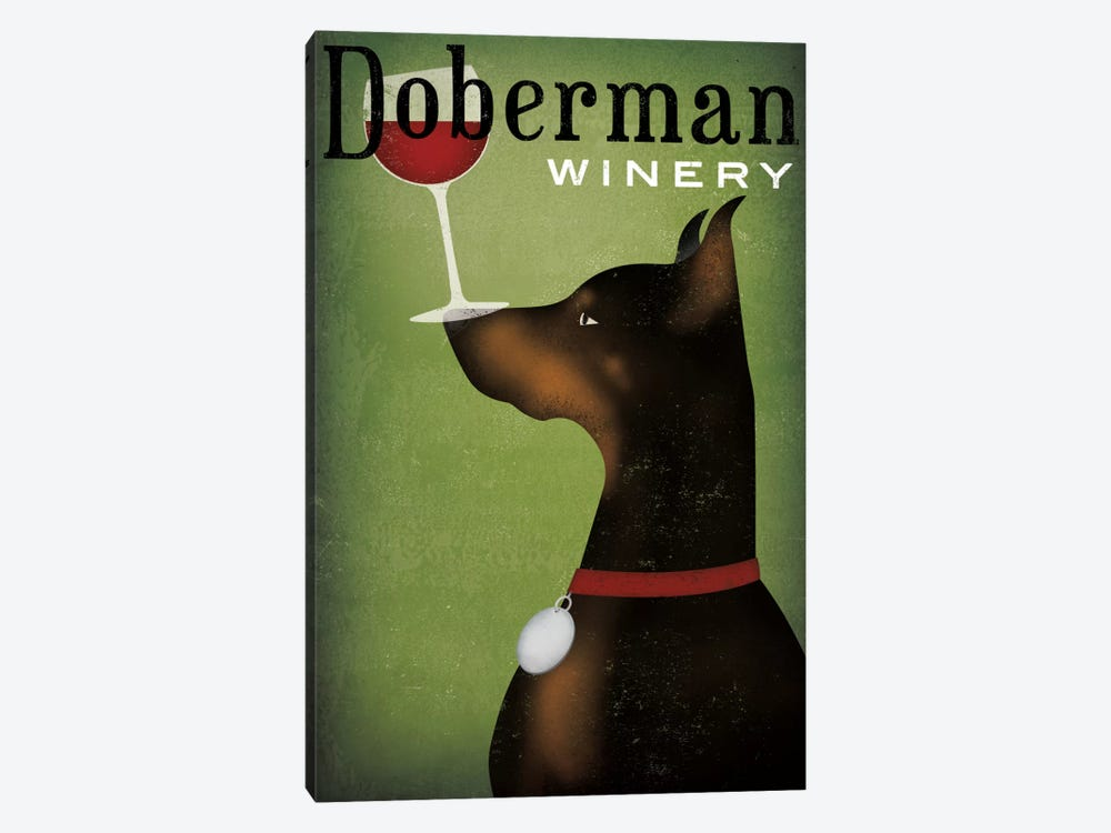Doberman Winery by Ryan Fowler 1-piece Canvas Art