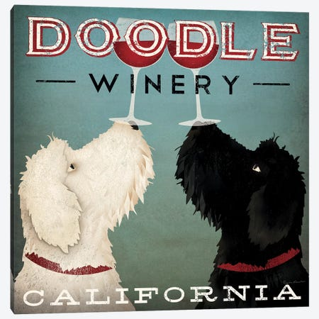 Doodle Winery Canvas Print #WAC5219} by Ryan Fowler Canvas Print