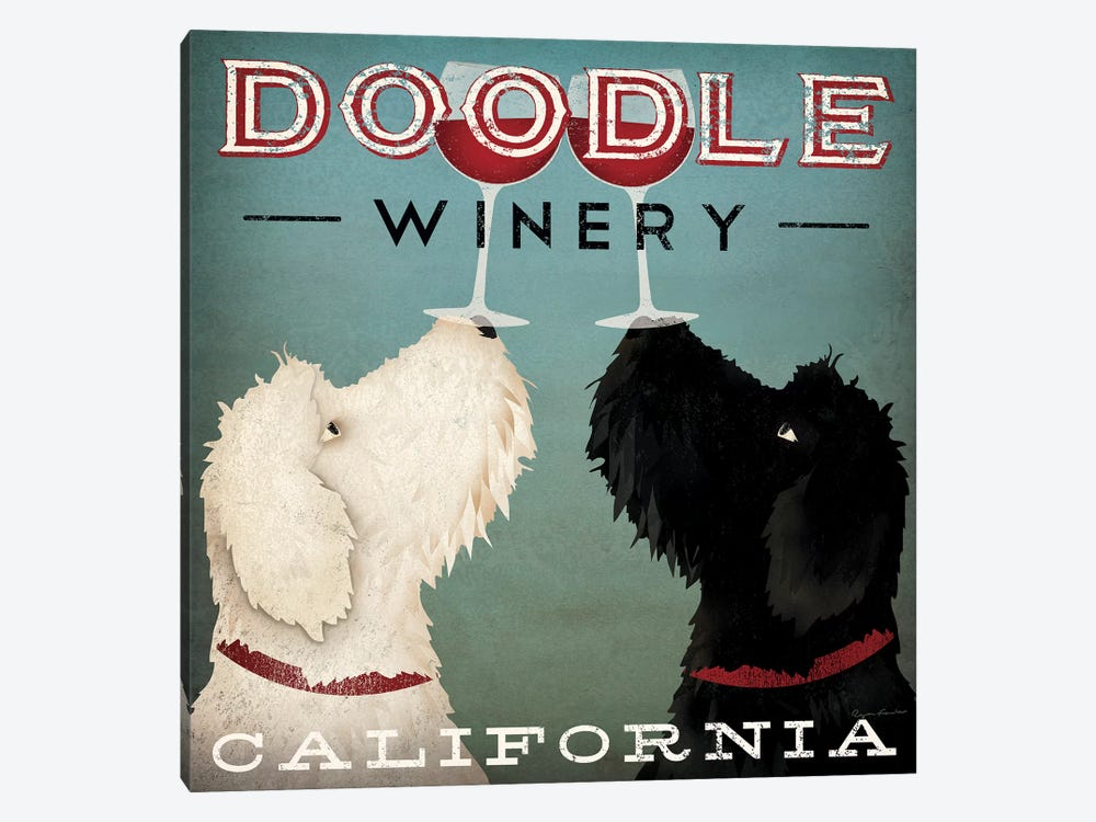 Doodle Winery by Ryan Fowler 1-piece Canvas Print